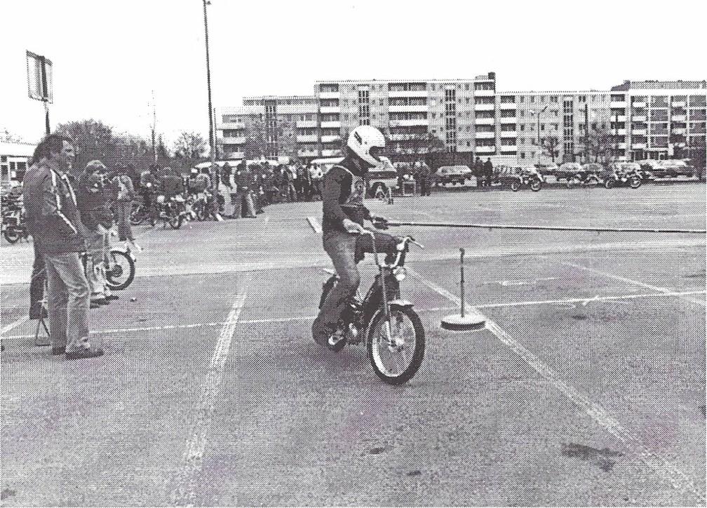 Mofa - Turnier 1979 auf dem Siemens Parkplatz